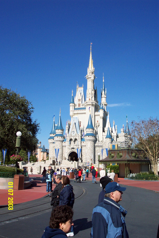 Cinderella Castle Outline With Cinderella's Castle